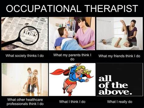 Occupational Therapy Memes - what people think i do what i really do occupational