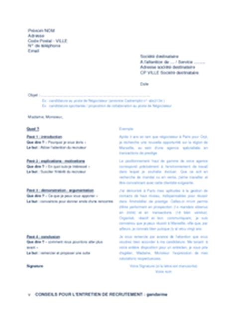 Exemple Lettre De Motivation Gendarmerie Modele Lettre De Motivation Gendarmerie