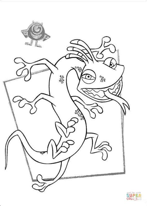 Randall Boggs Is Scary Coloring Page Free Printable Inc Dibujos A Color