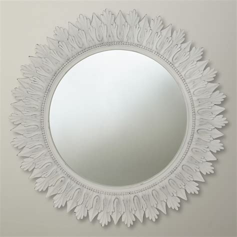 Glass Vases Rectangular Round Mirror White Contemporary Wall Mirrors By