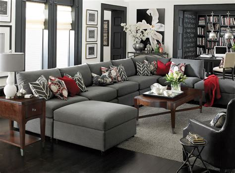 u shaped couch living room furniture beckham u shaped sectional by bassett furniture