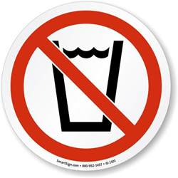 Fire Pit Construction - no drinking symbol iso prohibition sign sku is 1101 mysafetysign com
