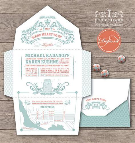 fold and send wedding invitations fireflies self mailing eco friendly wedding invitation