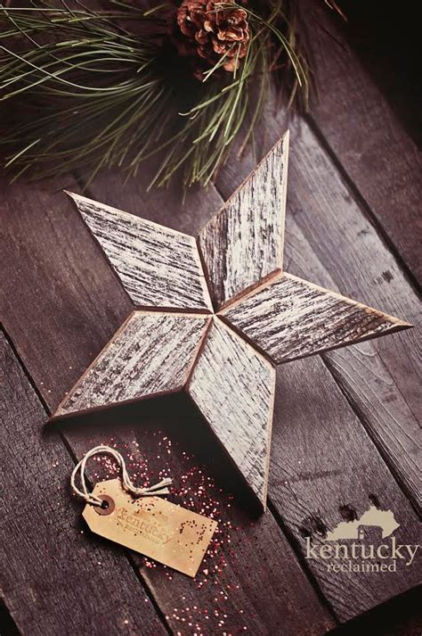 white wooden christmas star tree topper decoration 12 inch