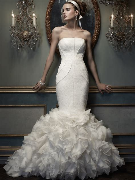 Wedding Dresses Couture by Strapless Mermaid Cb Couture Bridal Gown B071