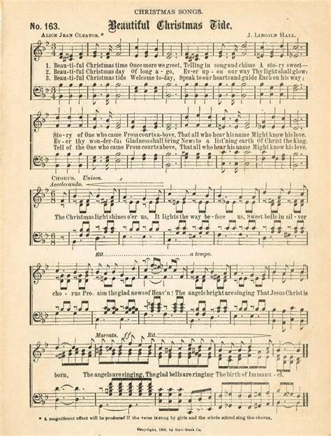 free printable vintage christmas sheet music christmas music pages loads of free pages knick of time