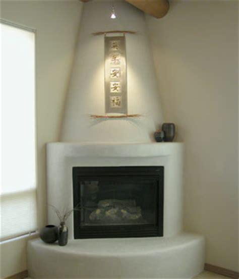Kiva Style Fireplace by Kiva Fireplaces Building