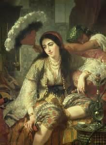 Ottoman Concubine Odalisque By Jean Baptiste Ange Tissier