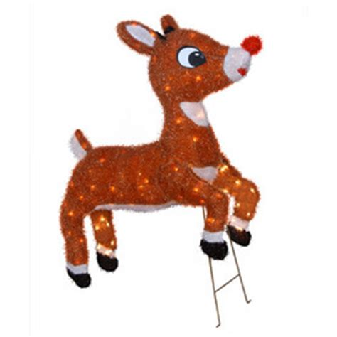 shop rudolph the red nosed reindeer 32 quot animated outdoor