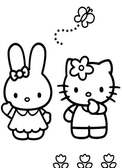 hello kitty butterfly coloring pages pin by chuli snaki on sanrio pinterest