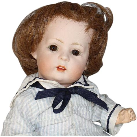 bisque baby doll antique german bisque baby doll from honeyandshars on ruby
