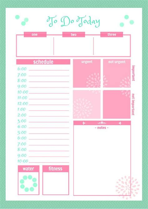 Printable Planner Cute | cute daily docket printable by secretowlsociety on etsy