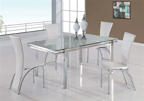 Glass Dining Table With White Chairs Glass Dining Table With White Chairsherpowerhustle Herpowerhustle