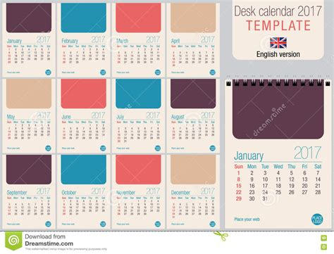 free desk calendar template desk calendar 2017 template in pastel colors ready for