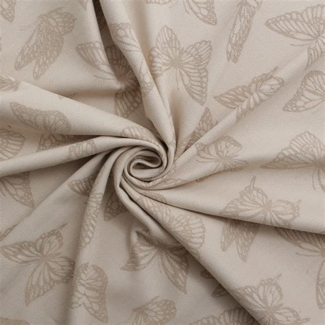 cotton linen upholstery fabric ashley wilde coastal woven butterfly cotton linen curtain