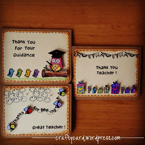 Handmade Teachers Day Card - crafty card happy teachers day crafty card handmade
