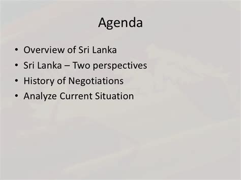 Mba Present Situation by Negociation Techniques Sri Lankan Government Vs Ltte