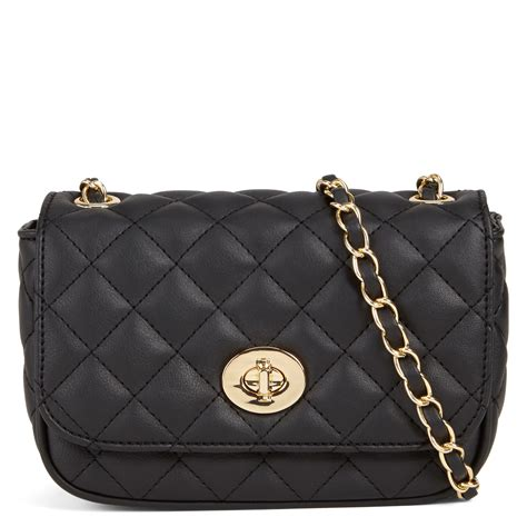 Aldo Classic Quilted aldo kangaroo quilted cross evening bag in black lyst