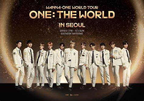 One One One wanna one suits up in their poster for their world tour