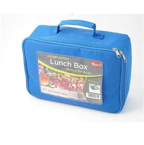 Lunch Box Blue blue photo insert lunch box