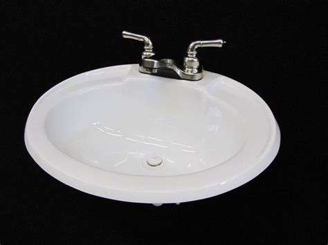 rv bathroom sink faucet mobile home rv parts white bathroom lav sink w brushed