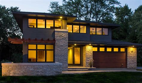 modern prairie style homes modern prairie style homes with crumbling stone wall ideas