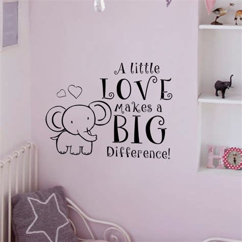 Elephant Baby Room Decal Nursery Room Wall Decal A Little Elephant Nursery Wall Decal
