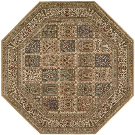 Octagon Outdoor Rug Nourison Arts Beige 7 Ft 9 In Octagon Area Rug 695383 The Home Depot