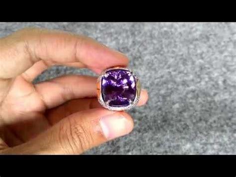 Sale Batu Cincin Asli Kecubung Ring 7 cincin batu kecubung 1287 certified