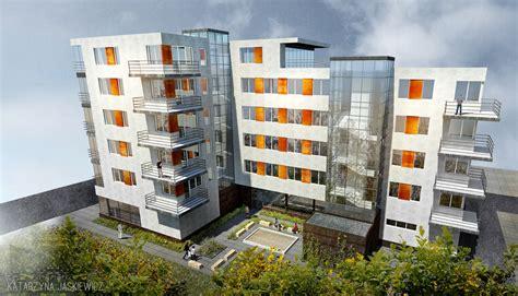 modern apartment building facade interior design