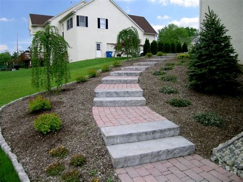 stone steps with landings architecture pinterest stone steps brick walkway and walkways