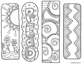 printable doodle bookmarks bookmarks free printable from classroom doodles