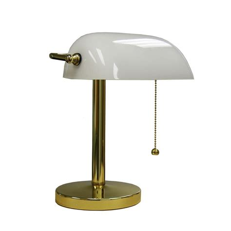 Small Bankers Lamp by Ore International 12 5 In Gold Bankers Lamp Kt 188wh