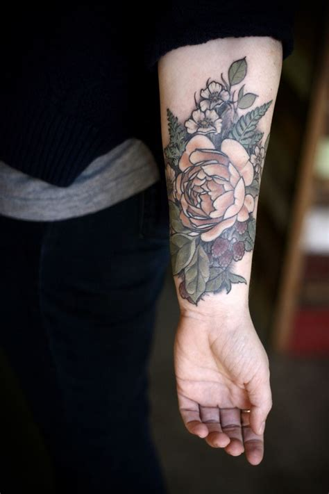 25 trending floral arm tattoo ideas on pinterest