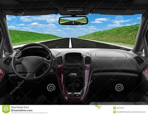 for inside car inside car view at high speed stock image image of