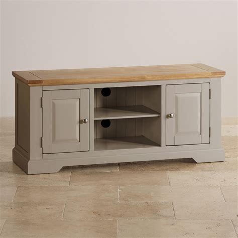 Grey Tv Cabinet oak and light grey painted tv cabinet