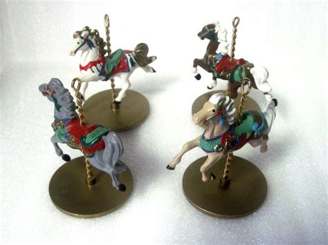 carousel ornaments carousel series 1989 hallmark