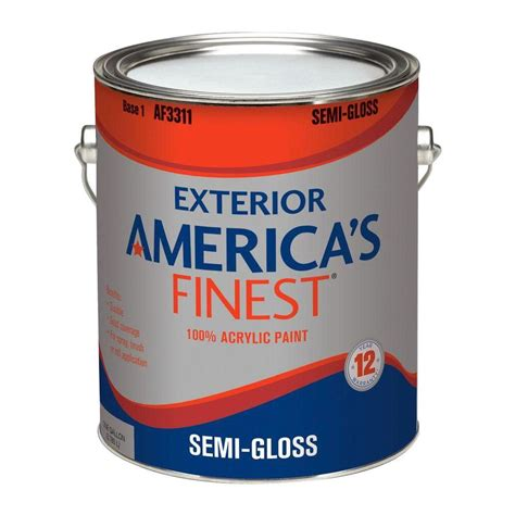 america s finest 1 gal semi gloss accent colors exterior paint af3314n 01 the home depot