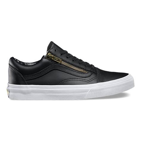leather skool zip shop shoes at vans
