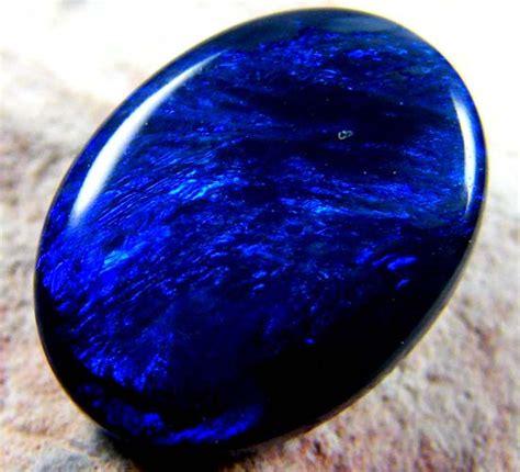 blue opal australian black opal blue 2 05 cts ss