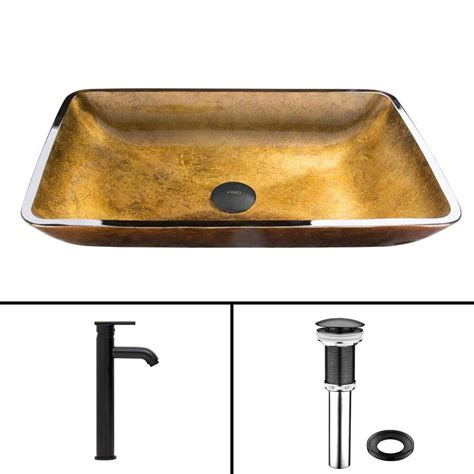 Where Are Vigo Sinks Made by Vigo Glass Vessel Sink In Copper And Seville Faucet Set In