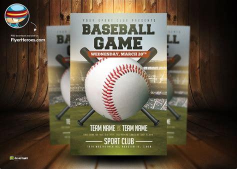 25 Baseball Flyers Sle Templates Baseball Flyer Template