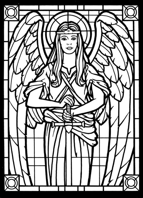 amazing angels stained glass coloring book angel