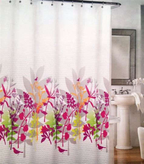 pink shower curtains fabric pink and green fabric shower curtains curtain