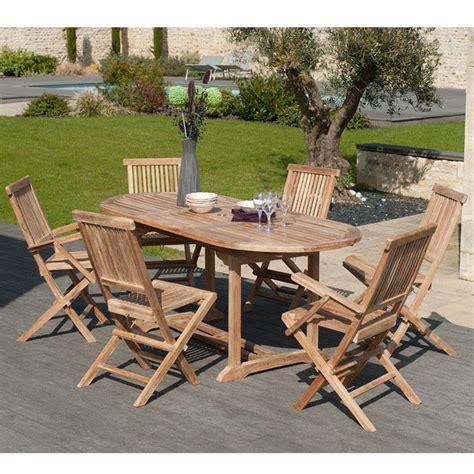 salon de jardin ovale salon de jardin en teck sumbara 1 1 table ovale extensible 4 chaises et 2 fauteuils