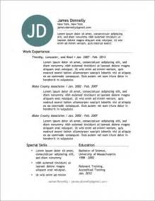 Free Resume Template For Word by 12 Resume Templates For Microsoft Word Free Primer