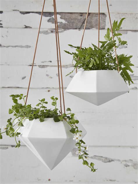 geometric hanging planter large nordic house
