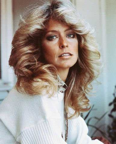 farrah fawcett haircut three words farrah fawcett hair hair she goes again