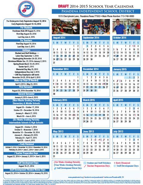 Isd Calendar 2014 15 Pasadena Isd Seeking Community Input For Cale