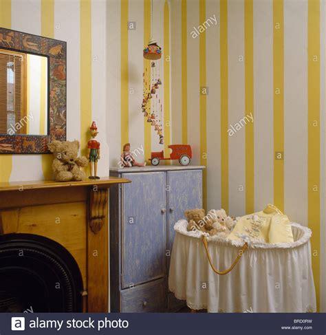 Yellow Wallpaper Bedroom by Interiors Bedroom Yellow Wallpaper Stock Photos